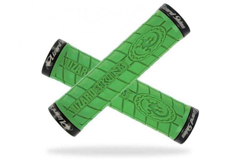 LIZARD SKINS grip Logo lock on lime green