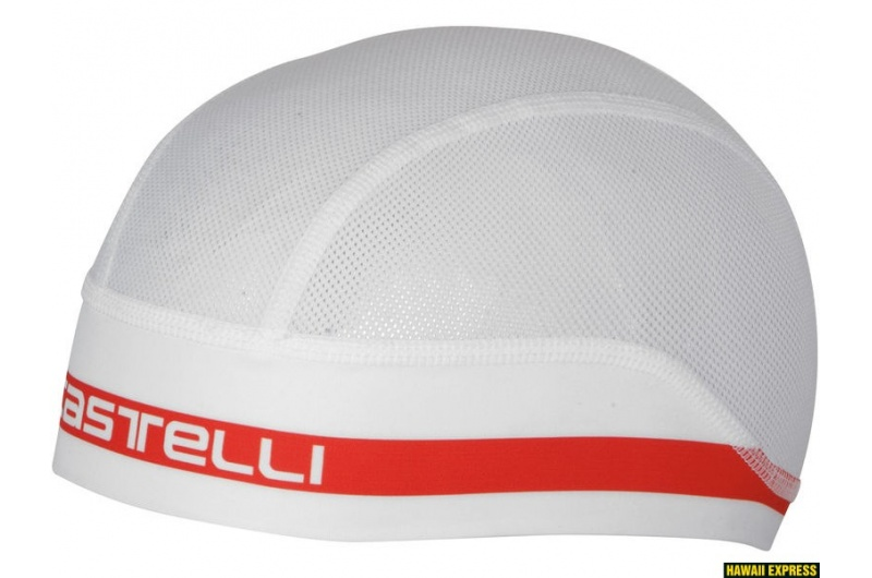 CASTELLI čepice Summer bílá/červená