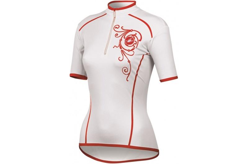 CASTELLI dres dámský krátký rukáv Sentimento bílá
