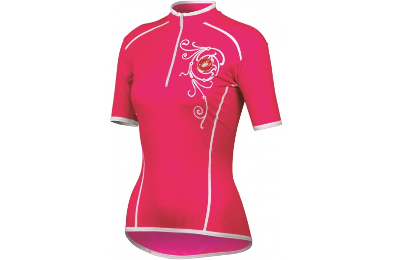 CASTELLI dres dámský krátký rukáv Sentimento růžová