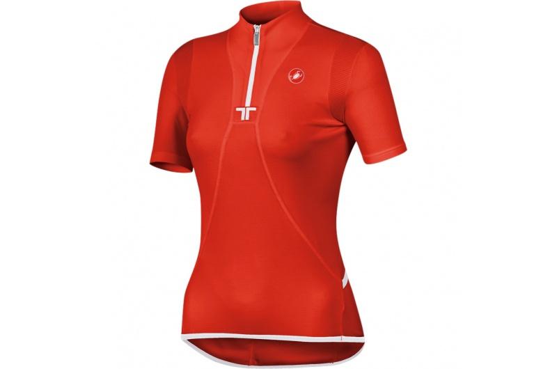 CASTELLI dres dámský krátký rukáv Essenza červená