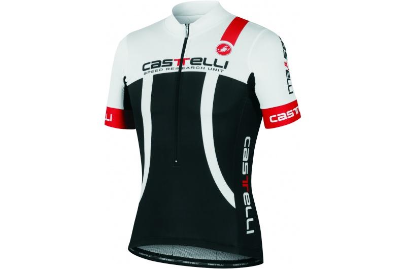 CASTELLI dres krátký ruk.páns. Aero Race černá-bílá