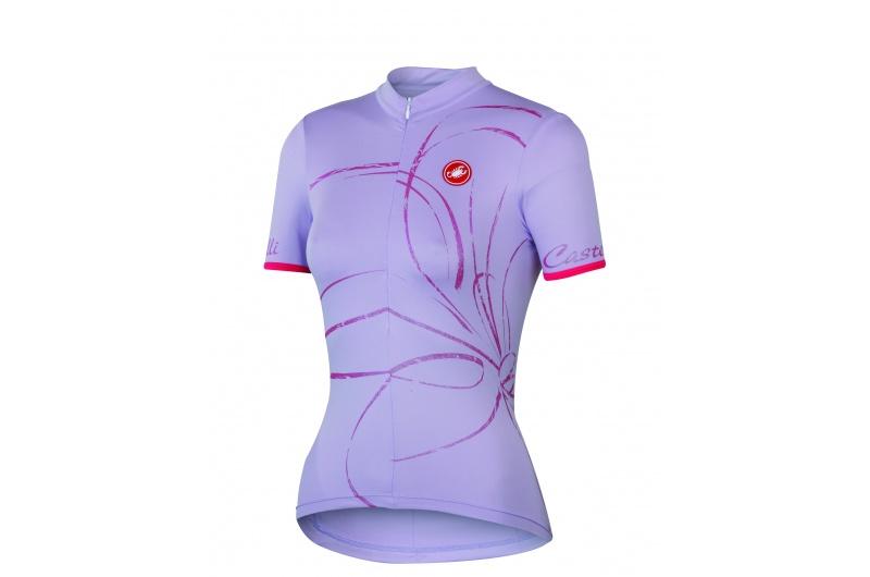 CASTELLI dres dámský krátký rukáv Luce fialová