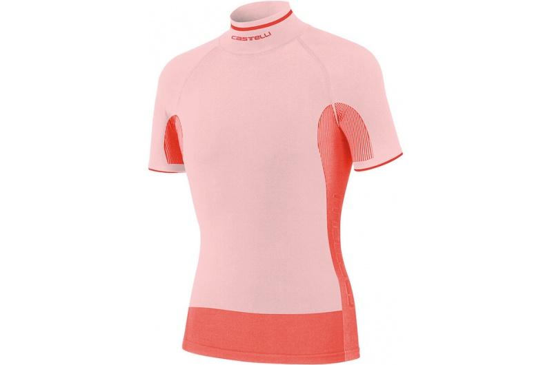 CASTELLI funkční triko Iride krátký rukáv bílá-červená