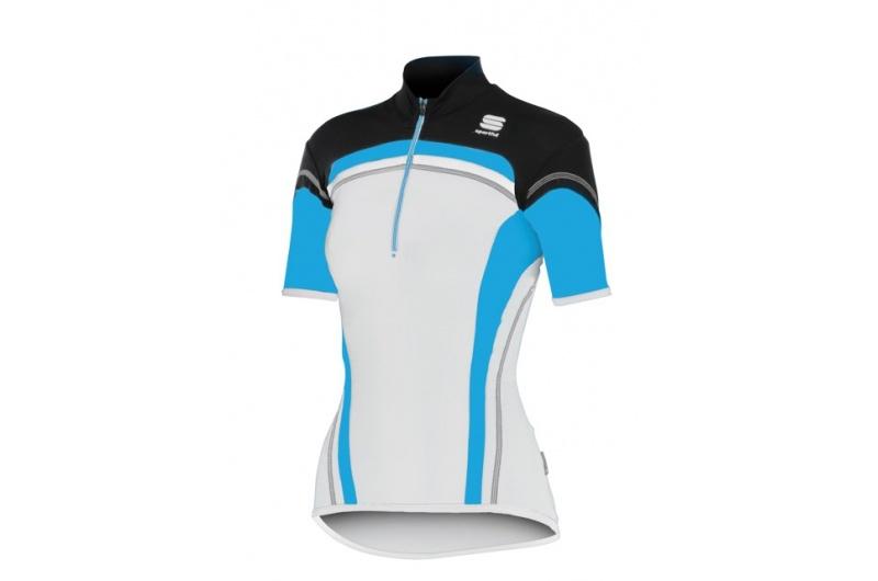 SPORTFUL dres krátký ruk. dámský Anakonda bílá-modrá