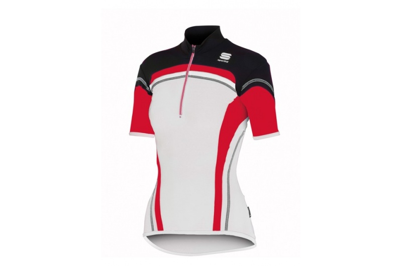 SPORTFUL dres krátký ruk. dámký Anakonda bílá-červená