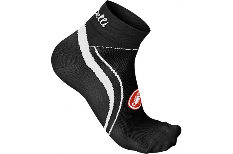 CASTELLI ponožky dámské Luna 3cm černá/bílá