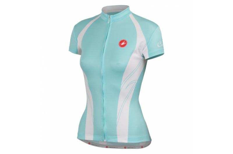 CASTELLI dres dámský krátký rukáv Amore azurová