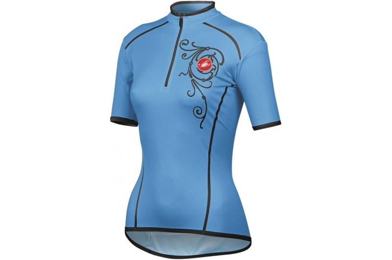 CASTELLI dres dámský krátký rukáv Sentimento modrá