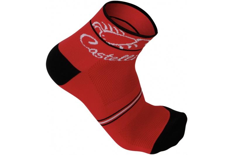 CASTELLI ponožky dámské Sole červená