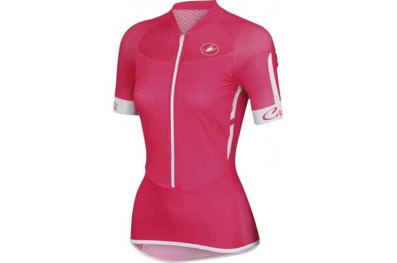 CASTELLI dres dámský krátký rukáv Climber´s růžová