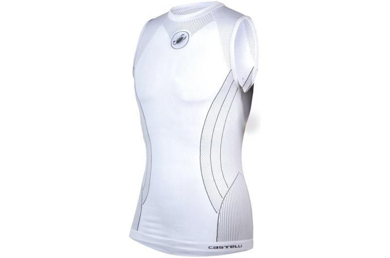 CASTELLI pánské funkční triko bez rukávů Airco bílá