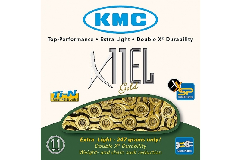 Řetěz KMC X11L Ti-N gold super light 11sp