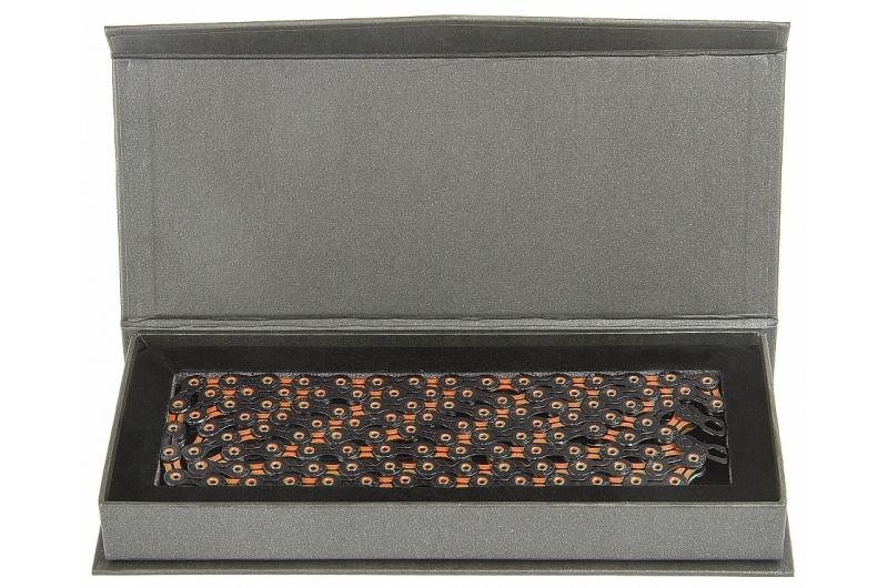 ŘETĚZ KMC X-11-SL DLC oranžovo/černý BOX