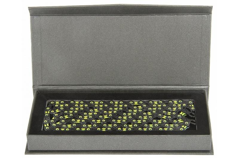 ŘETĚZ KMC X-11-SL DLC žluto/černý BOX