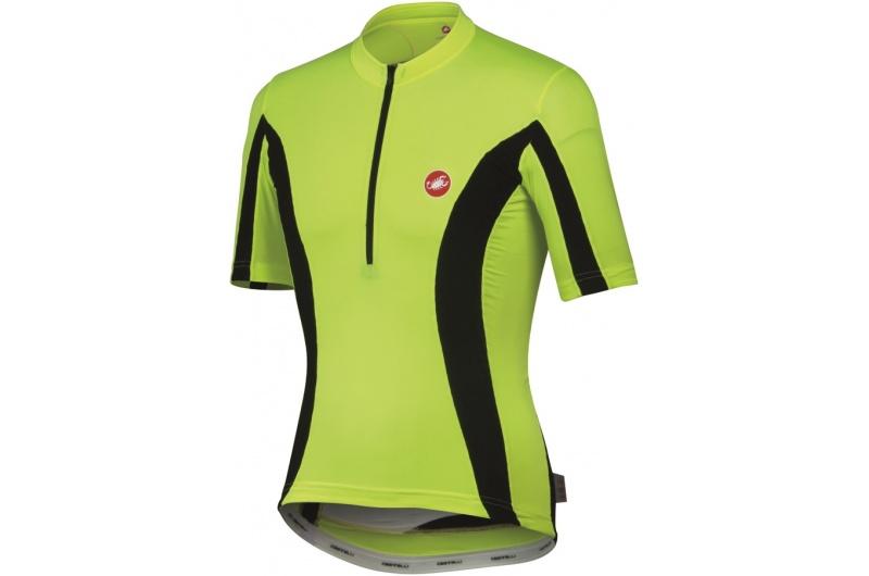 CASTELLI dres krátký rukáv SPLIT DUE jersey žlutá