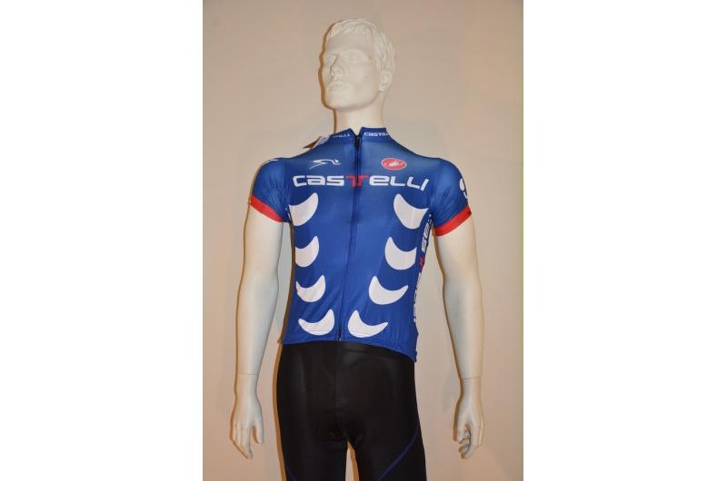 CASTELLI dres krátký ruk.páns Team modrá