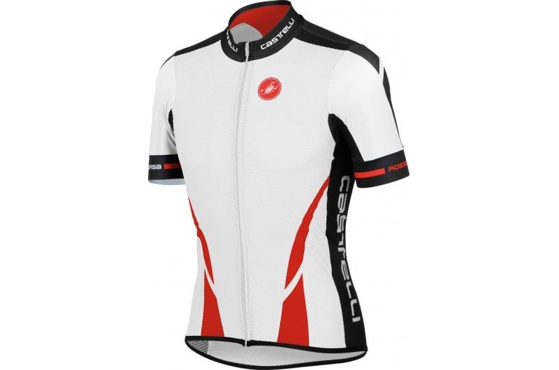 CASTELLI dres krátký ruk.páns. Climber´s FZ bílá/ červená
