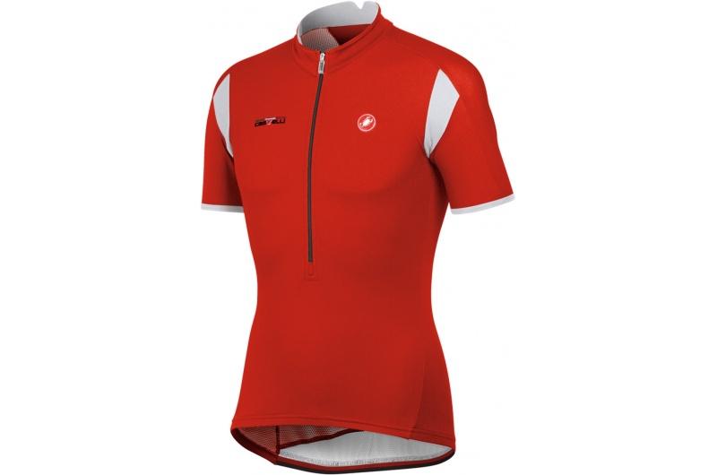 CASTELLI dres krátký rukáv Carico jersey červená red/white/black