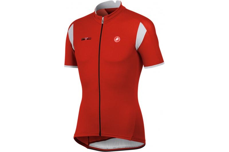 CASTELLI dres krátký rukáv Carico jersey červená -bílá
