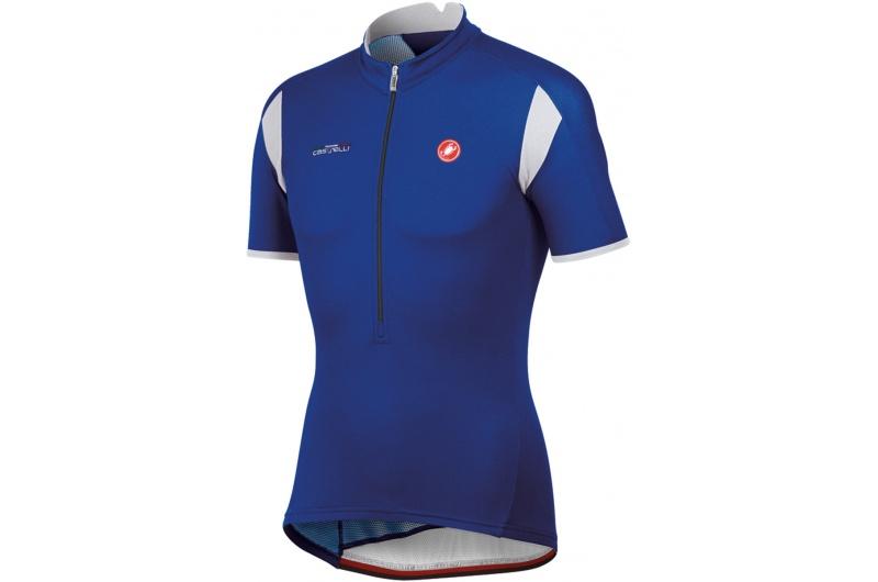 CASTELLI dres krátký rukáv Carico jersey modrá royal/white