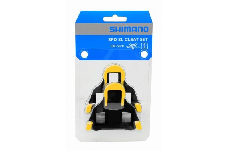 SHIMANO kufry na pedál SM-SH11 žluté