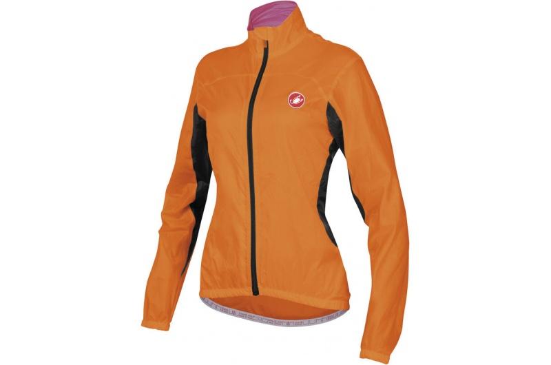 CASTELLI bunda dámská Velo oranž.