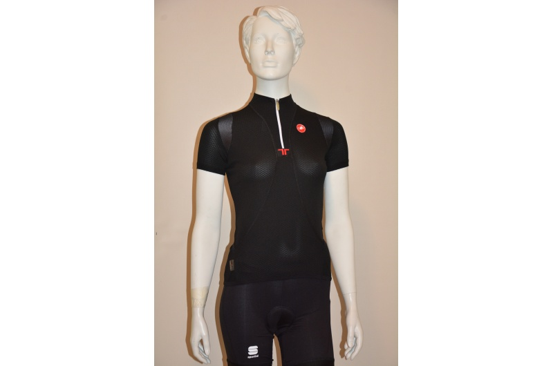 CASTELLI dres dámský krátký rukáv Essenza černá