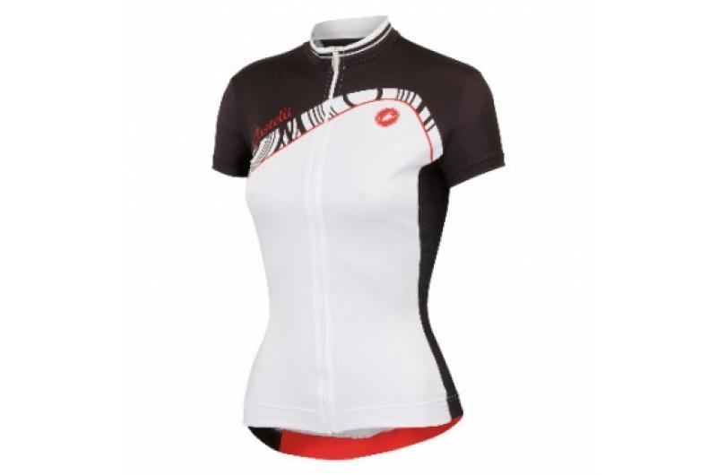 CASTELLI dres dámský krátký rukáv Tesoro bílá