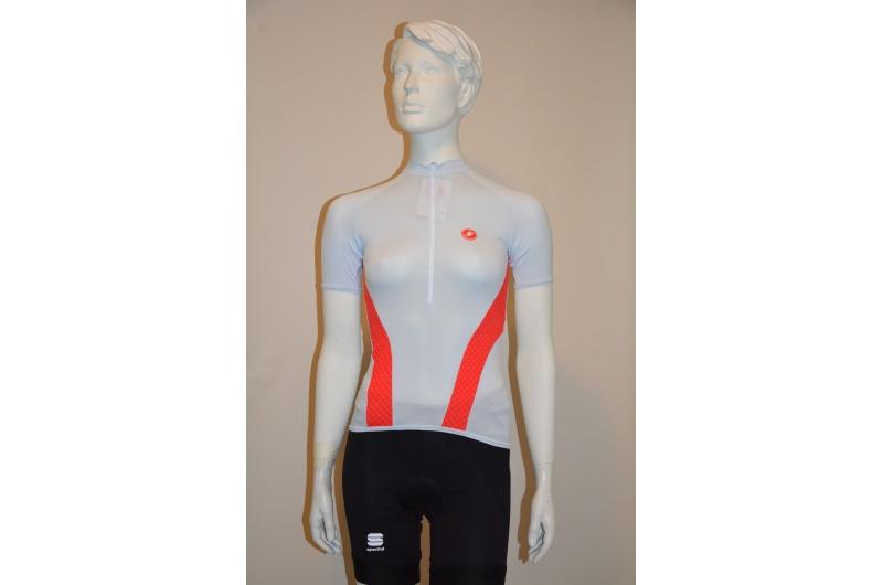 CASTELLI dres dámský krátký rukáv VENERE červená foto ilustrační