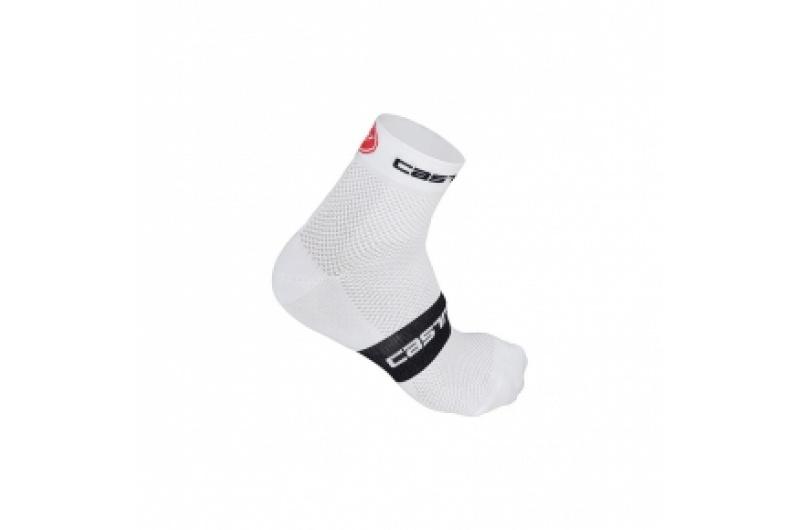 CASTELLI ponožky Free 3cm bílá/černá