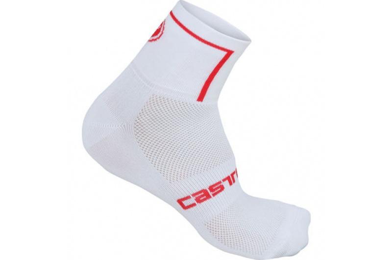 CASTELLI ponožky Velocissimo 6cm bílá/červená