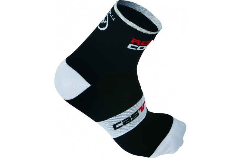 CASTELLI ponožky Rosso Corsa 9cm černá