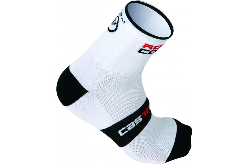 CASTELLI ponožky Rosso Corsa 9cm bílá