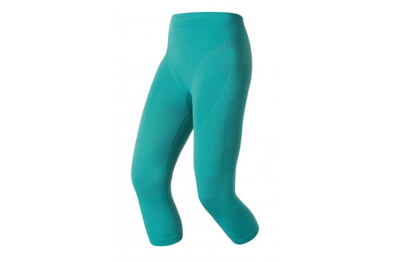 ODLO funkční kalhoty 3/4 Evolution Warm dámské modrá/černá