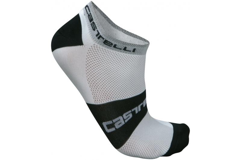 CASTELLI ponožky Lowboy bílá/černá