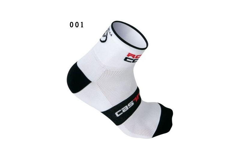 CASTELLI ponožky Rosso Corsa 6cm bílá
