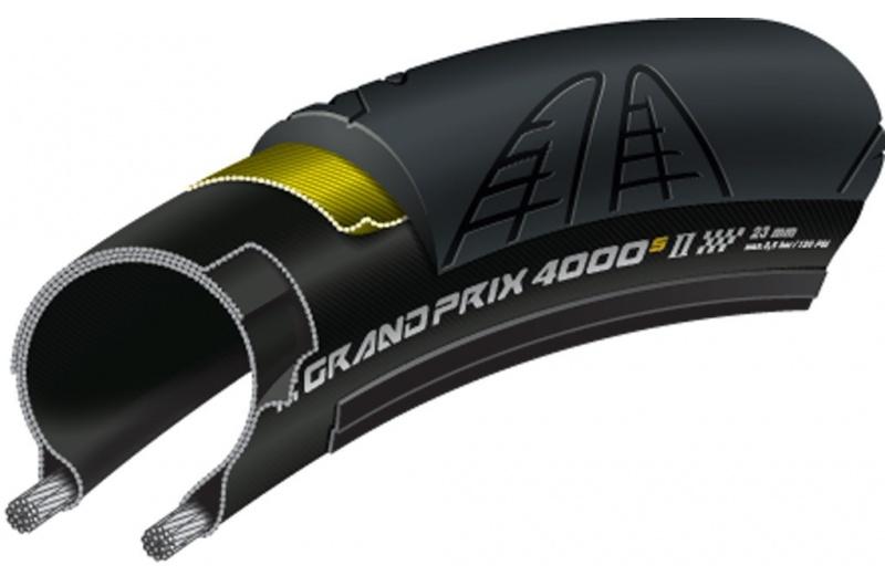 """silniční plášt Continental Grand Prix 4000 S II skl.28"""" 700x28C,28-622 černá"""