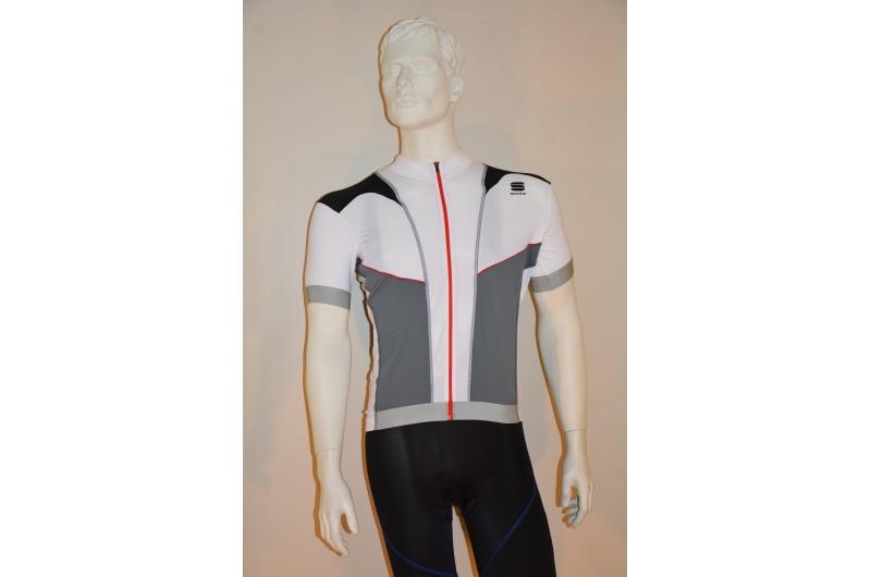 SPORTFUL dres krátký rukáv Anakonda 12 bílá-šedá