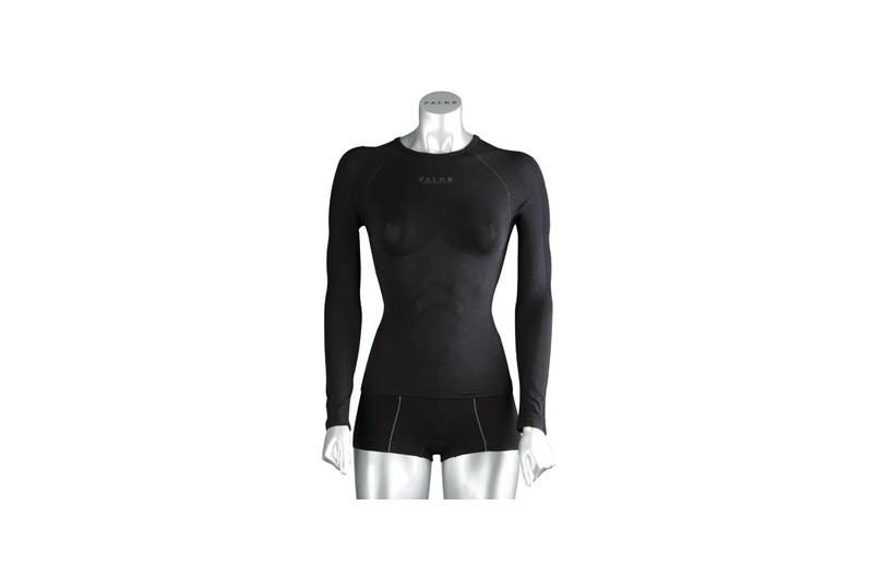 FALKE triko dlouhý rukáv dámské Athletic Cool W černá 3000