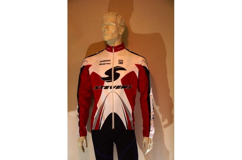 STEVENS dres s dlouhým rukávem bílá/červená