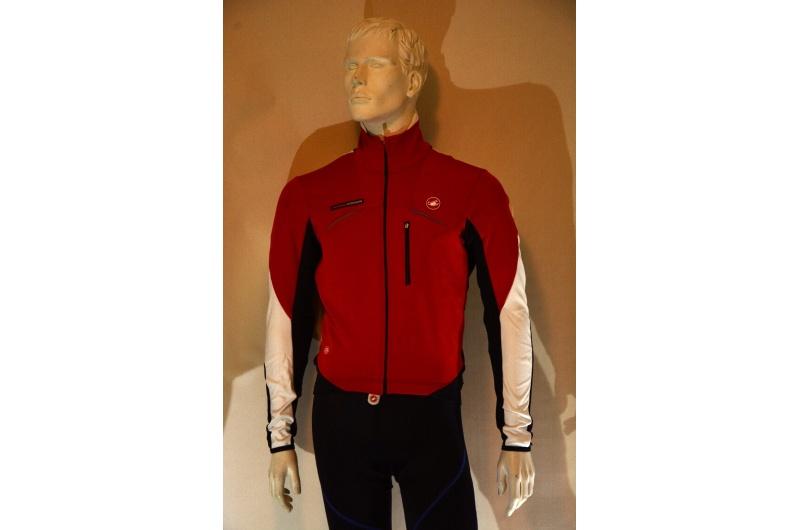 CASTELLI dres s dlouhým rukávem TRANSPARENTE JERSEY červená/bílá