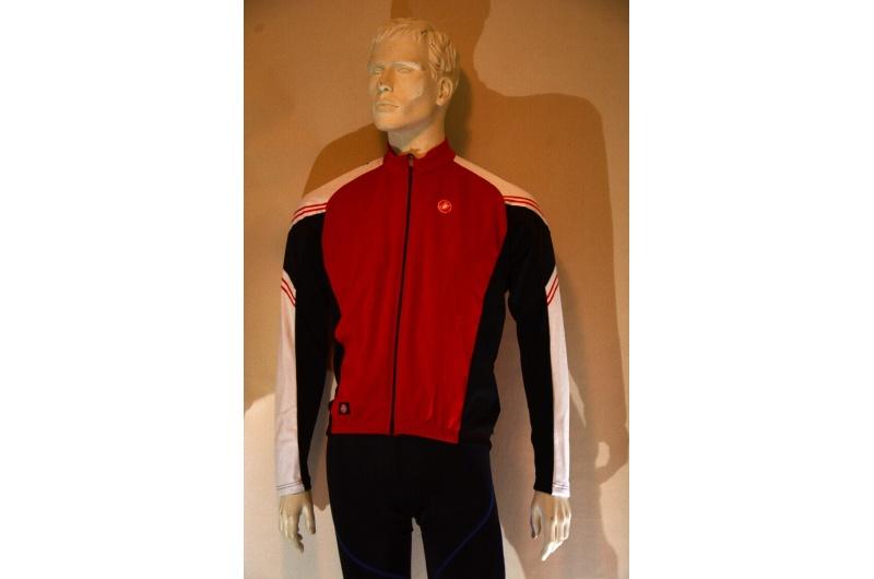 CASTELLI dres s dlouhým rukávem WIND STOPPER ABBUONO červená/bílá