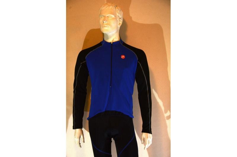 CASTELLI dres s dlouhým rukávem COLPO JERSEY FZ modrá/bílá