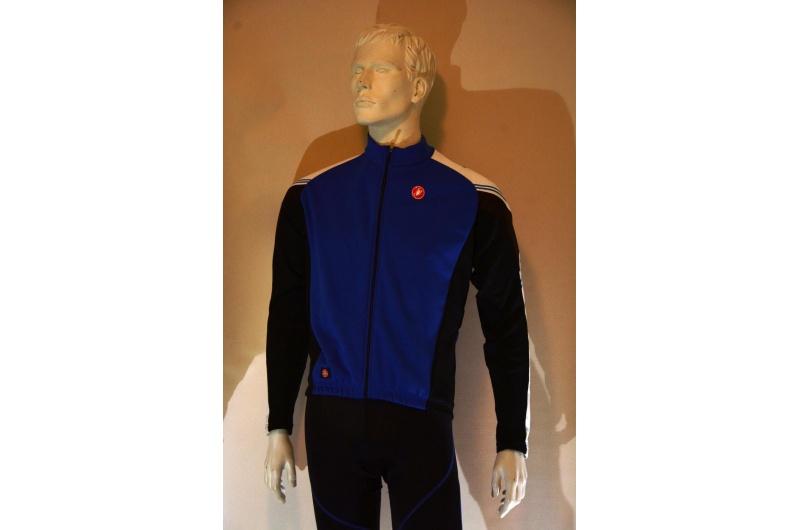 CASTELLI dres s dlouhým rukávem WIND STOPPER ABBUONO modrá/bílá