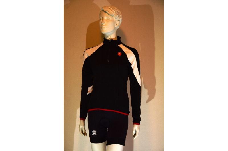CASTELLI dres dlouhý rukáv MOMENTO JERSEY černý/bílý