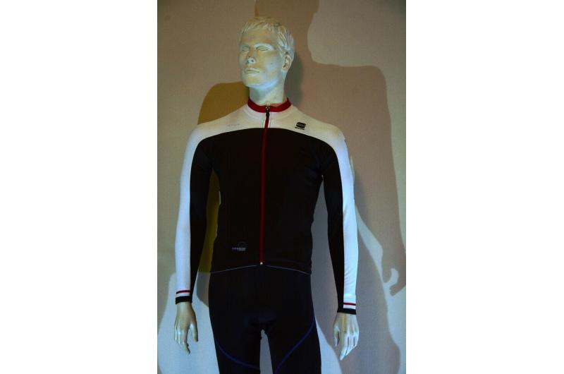 SPORTFUL dres dlouhý rukáv BODYFIT PRO THERMAL černá/červená/bílá