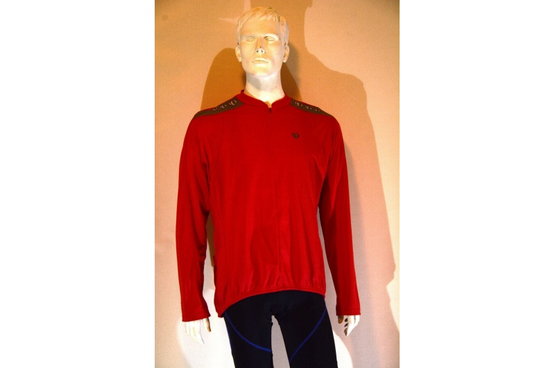 PEARL iZUMi dres dlouhý rukáv QUEST červená