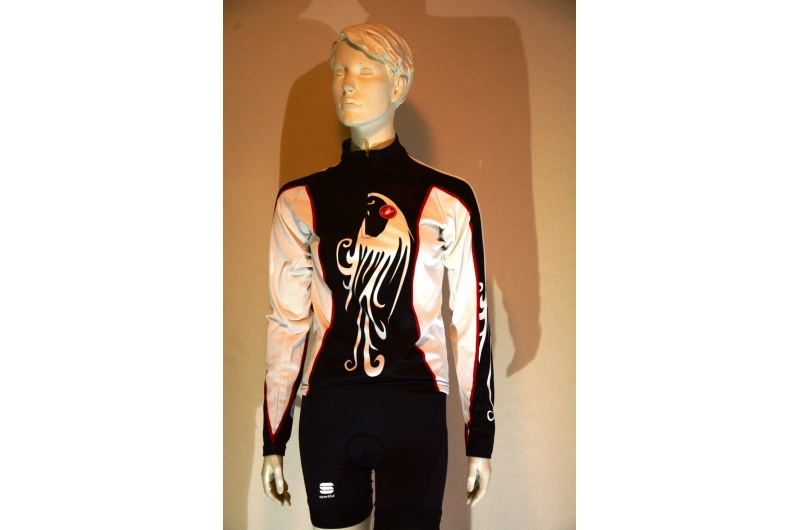 CASTELLI dres dlouhý rukáv FENICE černý/bílý