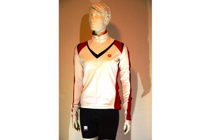 CASTELLI dres dlouhý rukáv MITO bílý